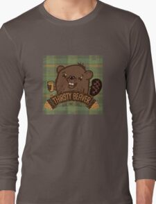 The Thirsty Beaver Bar & Grill Long Sleeve T-Shirt