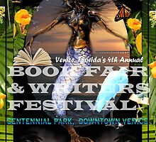 2015 VENICE BOOK FAIR & WRITERS FESTIVAL POSTER by alex glanville