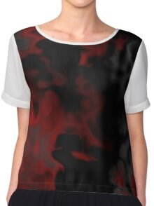 black red and gray Chiffon Top