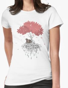 Tree Root Island Womens Fitted T-Shirt
