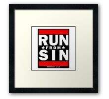 RUN FROM SIN- LDStreetwear Framed Print