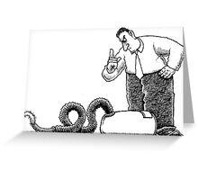 Bad vacuum cleaner Greeting Card