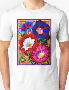 """GIANT JAPANESE MOONFLOWER"" Vintage 1892 Advertising Print Unisex T-Shirt"