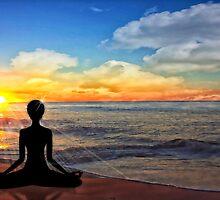 Serenity - Yoga on the Beach by Doreen Erhardt