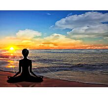 Serenity - Yoga on the Beach Photographic Print