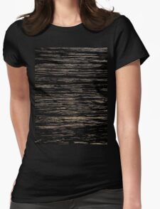 Line Art - old tree pattern Womens Fitted T-Shirt