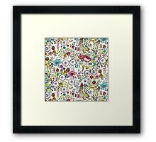 bits and bobs and bugs Framed Print