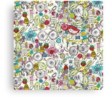bits and bobs and bugs Canvas Print