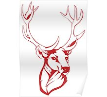 Deer Painting Drawing Poster