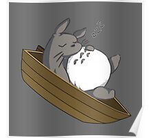 Totoro Sleeping On The Boat Poster