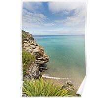 Cliff Edge at St Agnes Poster