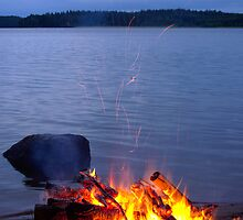 Midsummer bonfire by Kaj Barck