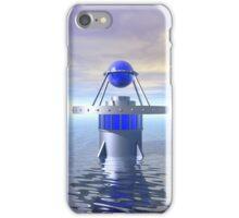 Blue Sci Fi Structure iPhone Case/Skin