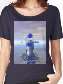 Blue Sci Fi Structure Women's Relaxed Fit T-Shirt