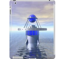 Blue Sci Fi Structure iPad Case/Skin
