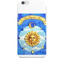 One Day at a Time - watercolor painting iPhone Case/Skin