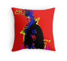 Red Woman Throw Pillow