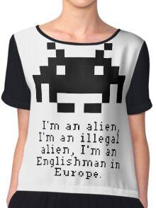Alien in Europe (brexinvaders)  Chiffon Top