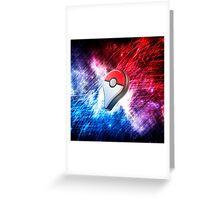 POKÉMON GO - RED & BLUE SPACE! Greeting Card