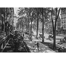 Broadway in Saratoga Springs, New York, ca 1915 (full size) Black & White version Photographic Print