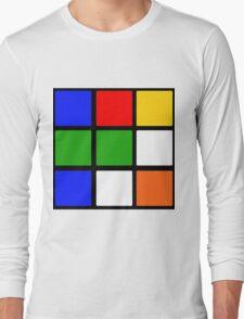 Rubik's Cube Design Long Sleeve T-Shirt