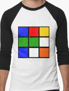 Rubik's Cube Design Men's Baseball ¾ T-Shirt