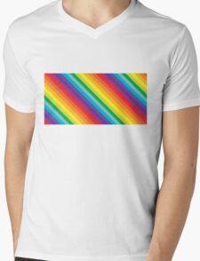 Rainbow Stripe  Mens V-Neck T-Shirt