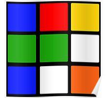 Rubik's Cube Design Poster