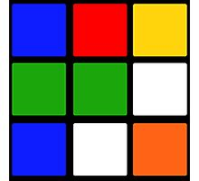 Rubik's Cube Design Photographic Print