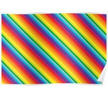 Rainbow Stripe  Poster