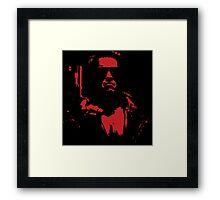 Terminate Red Framed Print