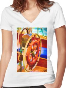 Color Wheel Women's Fitted V-Neck T-Shirt