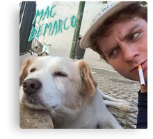 Mac Demarco's dog selfie Canvas Print