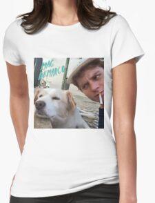 Mac Demarco's dog selfie Womens Fitted T-Shirt