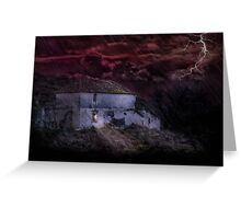 Welcoming light in a storm Greeting Card