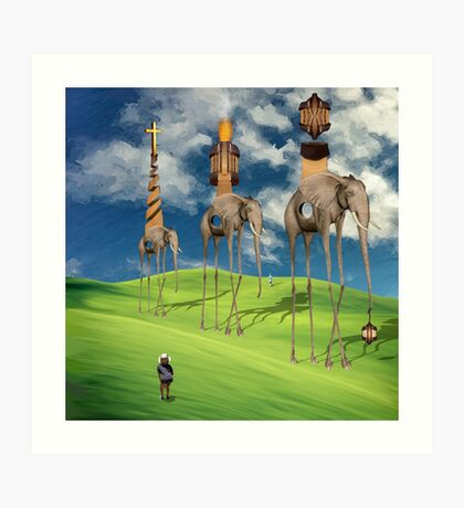 The Great Exodus of the Holy Pachyderms Art Print