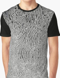 Silver and black abstraction, circles, curves Graphic T-Shirt