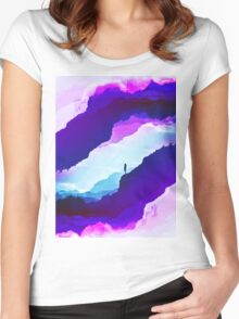 Violet dream of Isolation Women's Fitted Scoop T-Shirt