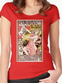 French Vintage Poster 1894 Restored Women's Fitted Scoop T-Shirt