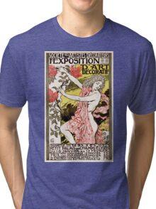 French Vintage Poster 1894 Restored Tri-blend T-Shirt