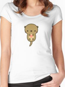 Cute otter Women's Fitted Scoop T-Shirt