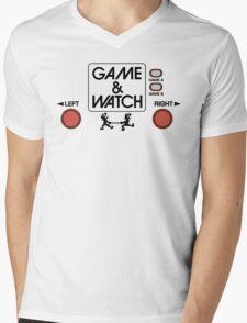 NINTENDO GAME & WATCH Mens V-Neck T-Shirt