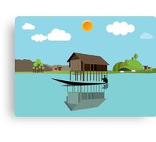 House above the water Canvas Print