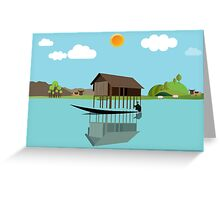 House above the water Greeting Card
