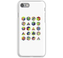 Sacred shapes and colors pop geometry  iPhone Case/Skin
