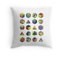 Sacred shapes and colors pop geometry  Throw Pillow
