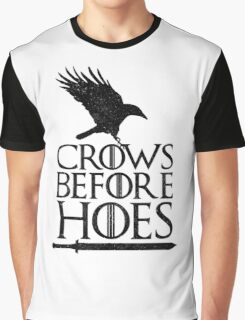 Game of Thrones - Crows Before H*es Graphic T-Shirt