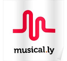 I love music t-shirt, musical.ly Poster