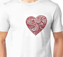 Portuguese Heart Embroidery Unisex T-Shirt