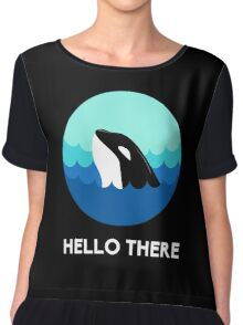 Whale Hello There! Chiffon Top